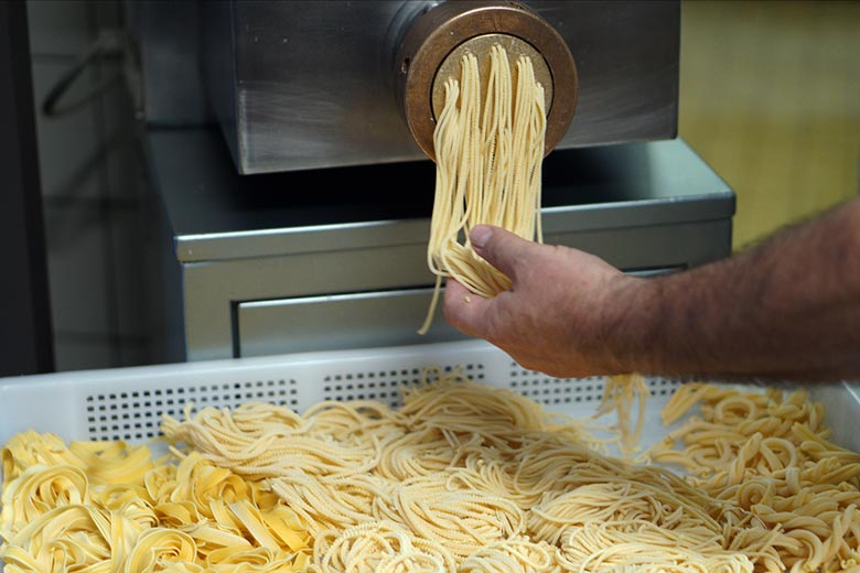 hausgemachte Nudeln in der Pizzeria Italia